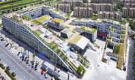 Combinatie reusita de spatii rezidentiale si comerciale in proiectul Hangzhou Duolan Compozitia volumetrica care gazduieste complexul