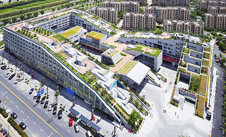 Combinatie reusita de spatii rezidentiale si comerciale in proiectul Hangzhou Duolan