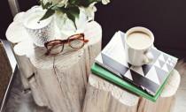 Mese de cafea din trunchiuri de copaci