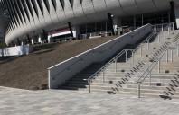 Elis Pavaje a amenajat aleile si parcarea stadionului Cluj Arena