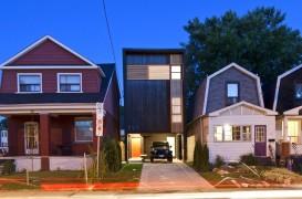 Casa Shaft din Toronto, arhitectura pe un teren cu o latime de 6m