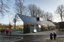 Pavilionul pentru proiectul Locul de joaca interactiv din Copenhaga
