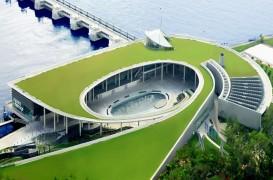 Barajul din Singapore controleaza inundatiile si colecteaza apa de ploaie