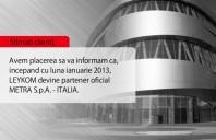 LEYKOM devine partener oficial Metra S.p.A Italia