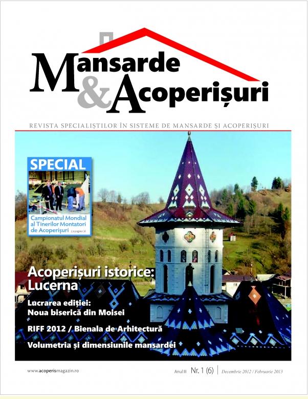 A aparut un nou numar al revistei Mansarde si Acoperisuri