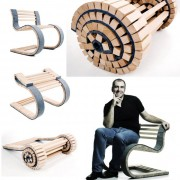 MIESROLO, un scaun dinamic facut dintr-o bucata