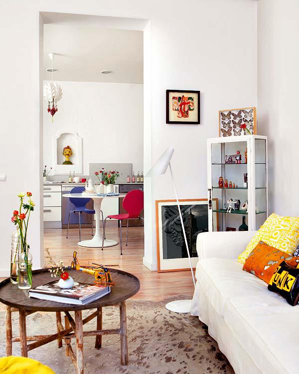 Un apartament de vacanta cu aer boem, in Madrid