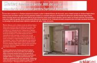 Siatec furnizeaza peste 300 de usi la standarde europene pentru spitalul Baneasa