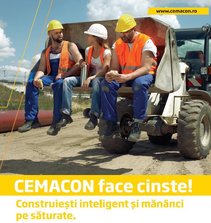 Construiesti inteligent si mananci pe saturate, cu CEMACON