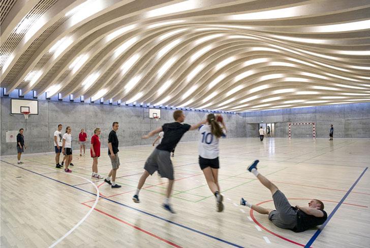 Sala de sport proiectata de echipa BIG