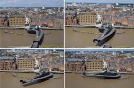 Pod mobil peste raul Hull