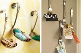 De pe masa, in accesorii decorative: linguri si furculite folosite altfel