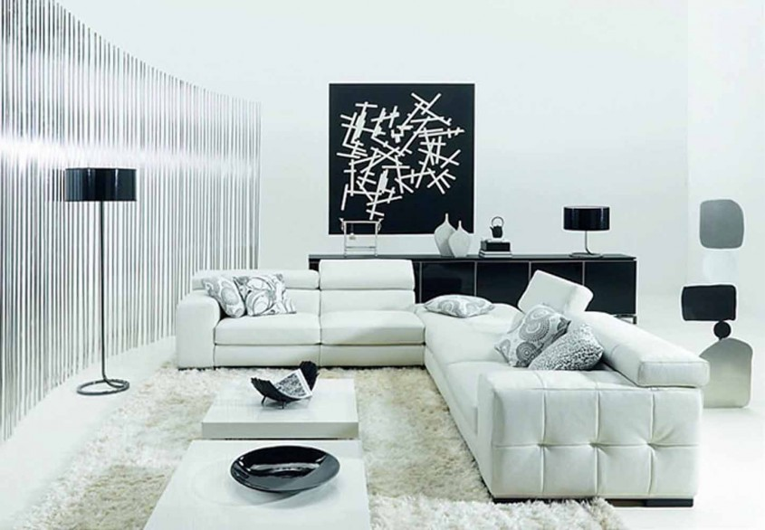 Amenajari alb-negru: elegante, dar greu de aplicat