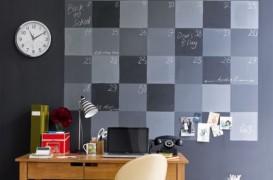Idee pentru biroul de acasa: un organiser pe un intreg perete