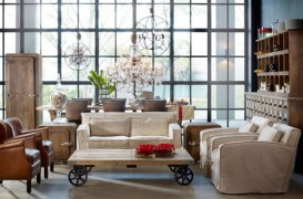 Inspiratie pentru living-uri in stil vintage-eclectic