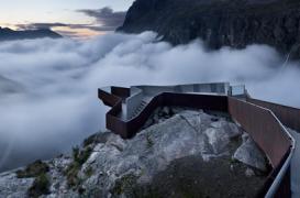Belvedere pe platoul Trollstigen, Norvegia