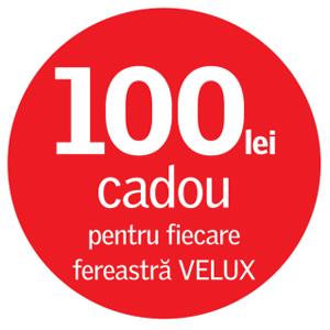 100 de lei cadou pentru fiecare fereastra VELUX
