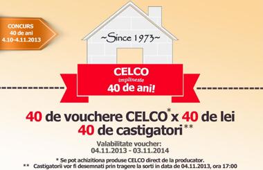 CELCO implineste 40 de ani si lanseaza concursul: 40 de vouchere, 40 de castigatori