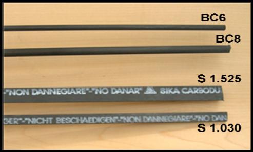 Tipuri de fibre de carbon Sika CarboDur® NSM