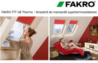 Fereastra de mansarda supertermoizolatoare - FAKRO FTT U8 Thermo