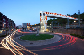 Podul Esch-sur-Alzette calauzeste pietonii departe de trafic