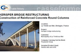 Reconstructia podului KERISPER cu cofraje reutilizabile GEOTUB