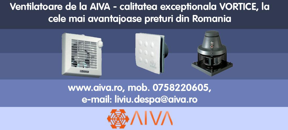 Ventilatoare de la AIVA - calitatea exceptionala VORTICE