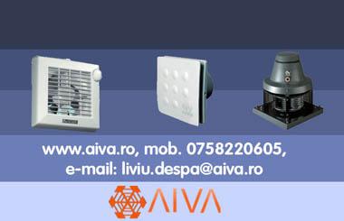 Ventilatoare de la AIVA - calitatea exceptionala VORTICE, la cele mai avantajoase preturi din Romania