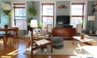 Detalii sofisticate aspect general confortabil Mimi imparte acest apartament plin de culoare din Brooklyn cu soțul