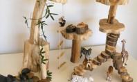 """Pentru parintii amatori de bricolaj si decoratiuni simple """"jungla"""" din lemn Multi dintre cei care lucreaza"""