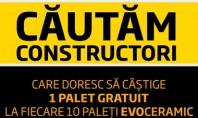 Cautam constructori care doresc sa castige 1 palet gratuit la fiecare 10 paleti Evoceramic Alege caramizile