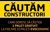 Cautam constructori care doresc sa castige 1 palet gratuit la fiecare 10 paleti Evoceramic