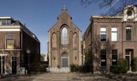 Casa moderna amenajata in interiorul unei biserici din Utrecht In Olanda sunt sute de astfel de