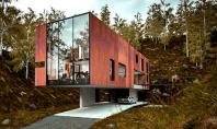 Casa pentru un fotograf rezolvata intr-un volum Hyde Architects au proiect aceasta locuinta moderna la baza