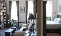 Lectii despre spatii mici o mini-locuinta in Manhattan Pardoseli inchise la culoare pereti din caramida aparenta