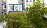 Locuinta inghesuita printre alte cladiri Arhitectul francez Noel Dominguez a proiectat o locuinta moderna si luminoasa
