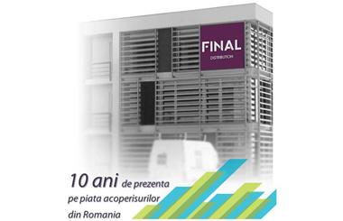 Final Distribution aniverseaza 10 ani de prezenta pe piata acoperisurilor din Romania