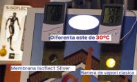 ISOFLECT SILVER - membrana pentru izolatie termica si bariera de vapori Aplicat in zona exterioara a