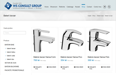 Bateriile sanitare ale reputatei firme HANSA, disponibile acum in magazinul online wsconsult.ro