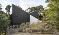 Noua casa pentru girafe de la gradina zoologica din Auckland Monk Mackenzie si Glamuzina Patterson si-au