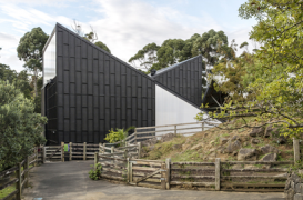 Noua casa pentru girafe de la gradina zoologica din Auckland