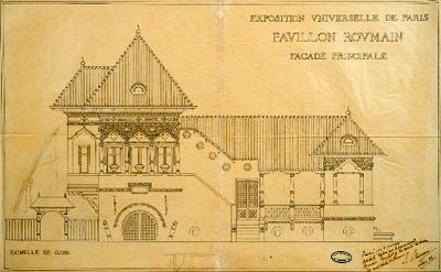 "Expozitia ""Ion Mincu. Desene si proiecte de arhitectura"""
