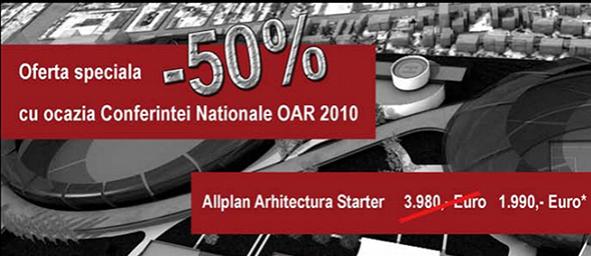 Cu ocazia Conferintei Nationale OAR 2010 Nemetschek Romania are preturi speciale