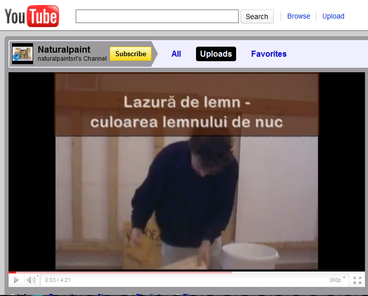 Lazura_de_lemn_Video