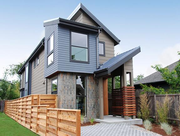 Casa moderna cu sistem fotovoltaic in Portland
