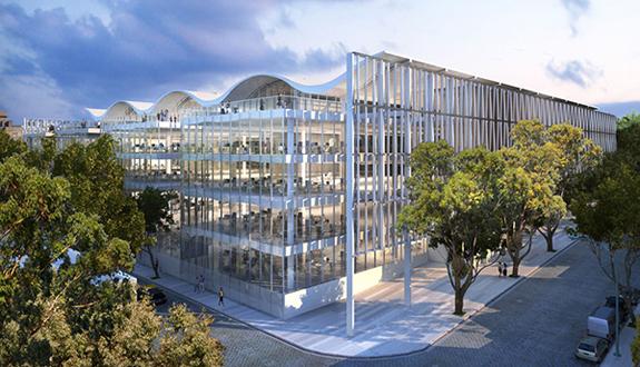 Foster + Partners prezinta propunerea pentru sediul unei banci cu acoperis valurit