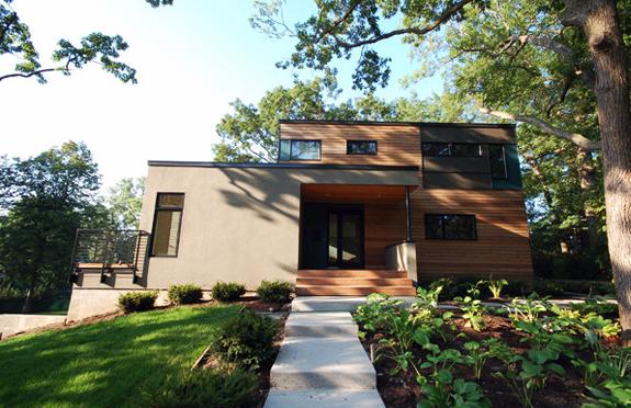 Casa modulara verde in St. Paul