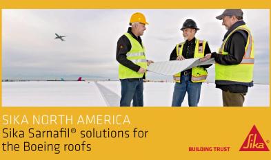 Sika North America - Solutiile Sika Sarnafiel pentru acoperisuri Boeing