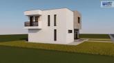 Proiect casa CUBIQA, P+E, 5 camere, 119 mp