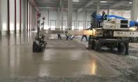 Pardoseli industriale din beton elicopterizat - exemplul 2